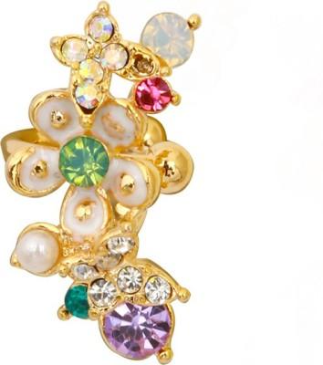 Madclozet Jewel Clad Metal Cuff Earring