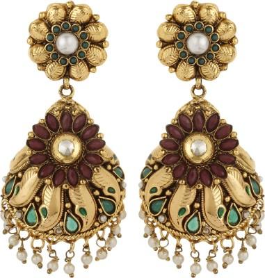 Dilan Jewels Half Jhumka Beads Alloy Jhumki Earring