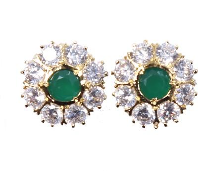 Asset Jewels Crackcle Brass Stud Earring