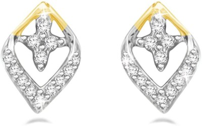 Sparkles Diamond Yellow Gold 18kt Diamond Stud Earring
