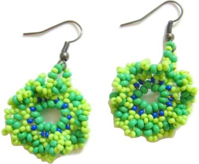 Store Utsav Green Mischief Resin Dangle Earring