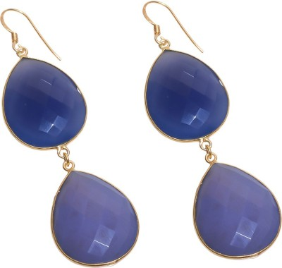 KattasJewellers Spring Night Chalcedony Silver Dangle Earring