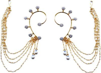Uzuri Beautiful polki Copper Cuff Earring