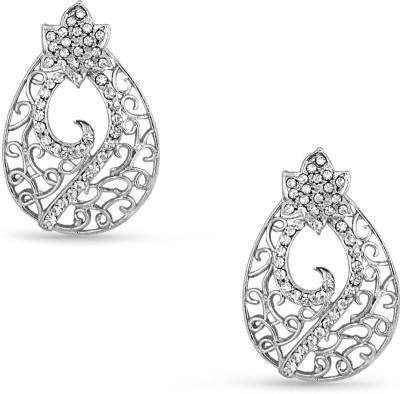 Tvesha IAER2087WHT Cubic Zirconia Alloy Stud Earring