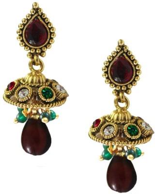 Beingwomen Elegant Gold-Plated With Kundan Studded Fashion Alloy Jhumki Earring