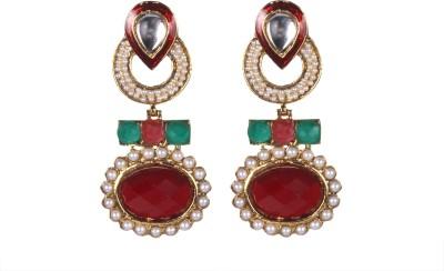 Tatva Marron Beaded Style Hangings Alloy Drop Earring