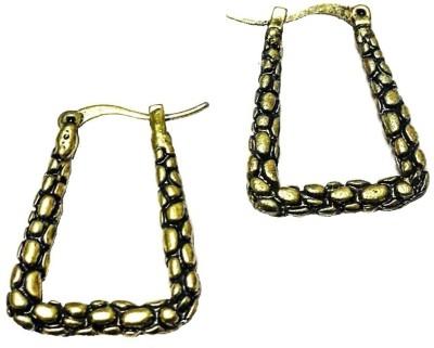 Bling-Bling Golden & Black Alloy Hoop Earring