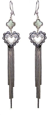 000 Fashions Love shaped Silver Tassel Alloy Tassel Earring
