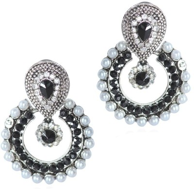 Grand Jewels Mahi4 Emerald Alloy, Brass Chandbali Earring