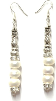 Tangerine Pearl Passion Pearl White Metal Dangle Earring