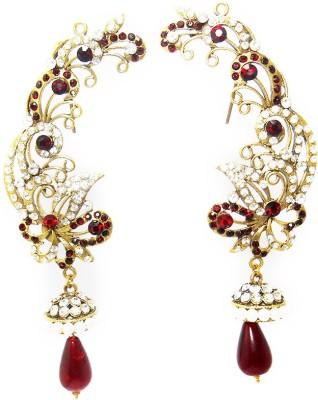 MKJewellers Peacock Ear Cuffs 6951 Brass Cuff Earring