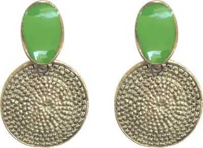 KooKoo Fashion Antique Green Alloy Drop Earring