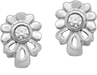 Om Jewells Floral Dream Cubic Zirconia Sterling Silver Stud Earring