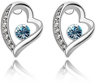 Womanwa Beautiful Heart Metal Stud Earring