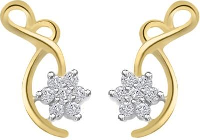 Sparkles T5625D Yellow Gold 18kt Diamond Stud Earring