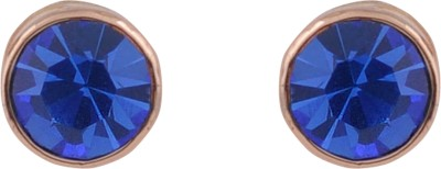 Diovanni Blue Crystal Glow Crystal Stud Earring
