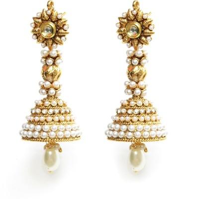 Tatva Long Artistic Copper Jhumki Earring