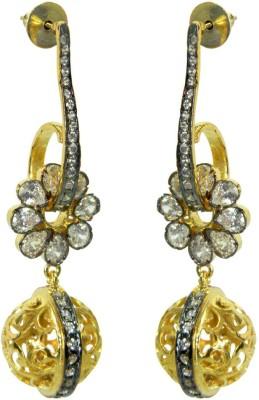 Peora Floral Brass Drop Earring