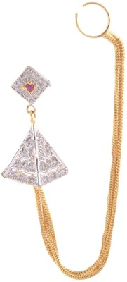Sale Funda Silver pyramid Ruby, Zircon Alloy Stud Earring, Clip-on Earring