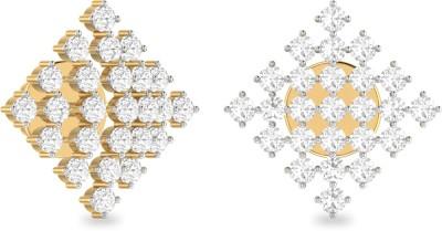 WearYourShine by PC Jewellers PC Jeweller The Damana Yellow Gold 18kt Diamond Stud Earring at flipkart