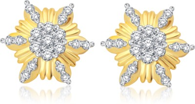 Classic Spring Sparkle Cubic Zirconia Alloy Stud Earring