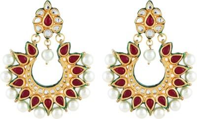 Aadi Creations Pretty Please Copper, Brass Chandbali Earring