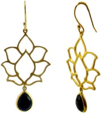 VelvetCase Lotus Earring Quartz Silver Stud Earring