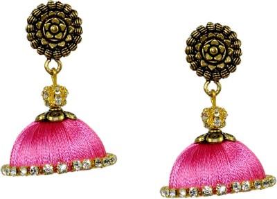 Maalyaa Fancy Fabric, Plastic Jhumki Earring