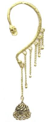 Gurjari Golden Zoomar Brass Cuff Earring
