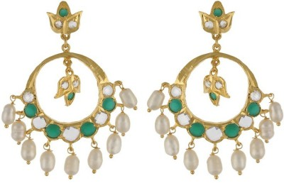 Nisa Pearls Dazzling Fashion Onyx Alloy Dangle Earring