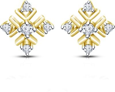 Mani Jewel Square Yellow Gold 18kt Diamond Stud Earring