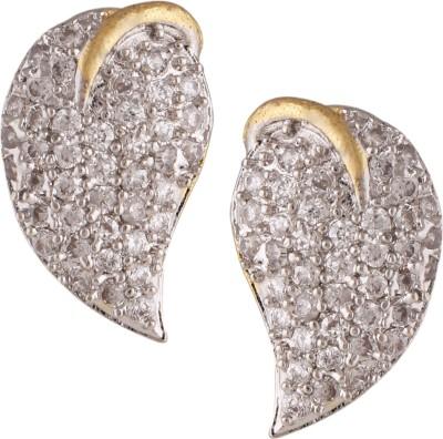 Fashionaya Silver Mango Cubic Zirconia Alloy Stud Earring