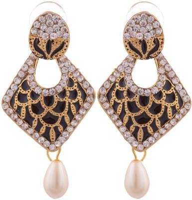 Grandiose Gold Plated Meenakari Copper Dangle Earring