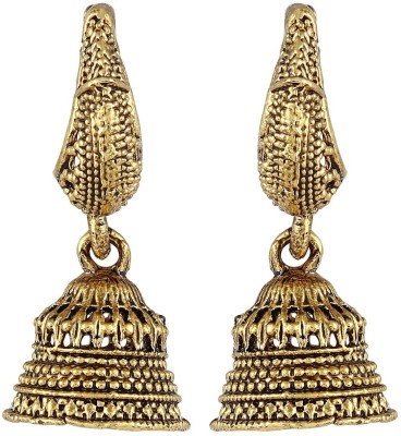 Crazytowear Amazing Oxidised Metal Alloy Jhumki Earring