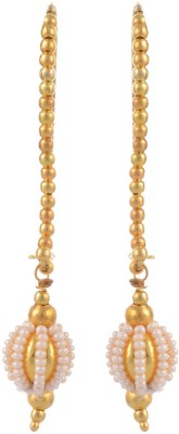 Heartzy Gold Plated Designer Wedding Pearl Alloy Dangle Earring