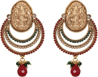 Jewelfin Traditional Style Alloy Chandbali Earring
