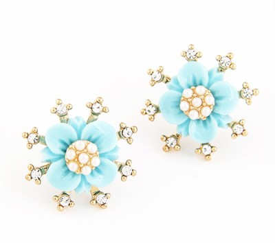 Cilver Fashion Simply Cool Flower Design Alloy Stud Earring