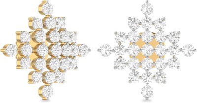 WearYourShine by PC Jewellers PC Jeweller The Amodini Yellow Gold 18kt Diamond Stud Earring