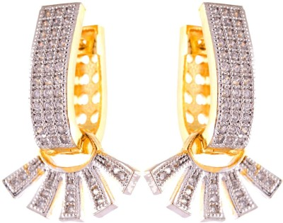Enzy Long Micro Setting Baali Alloy Huggie Earring