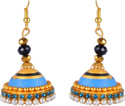 Sharun Collections Beautiful Traditional Pearl Paper Jhumki Earring