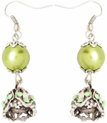 YugshaJewels Elegant YJE-1283 Cubic Zirconia Brass Dangle Earring
