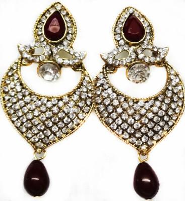SB Fashions Brown Diamond Earrings Brass Drop Earring