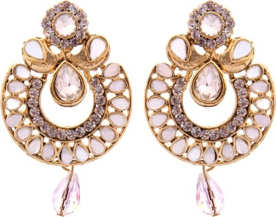 Kaizer Jewelry Party Wedding & Engagement Spark Alloy Chandbali Earring