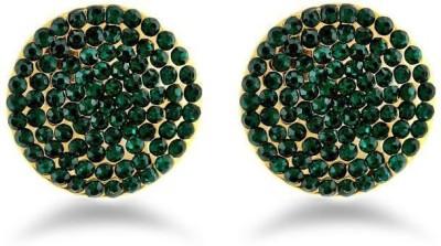 Jazz Jewellery Royal Designer Party Wear Green Color Earrings Alloy Drop Earring