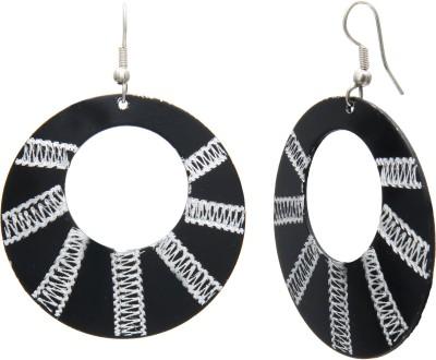 Galz4ever Black & White Alloy Drop Earring