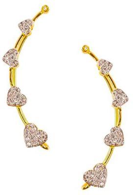 Bandish Heart Design Earwired Alloy Cuff Earring