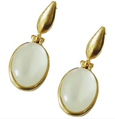 Bling-Bling Casual Beige Earrings Alloy Drop Earring