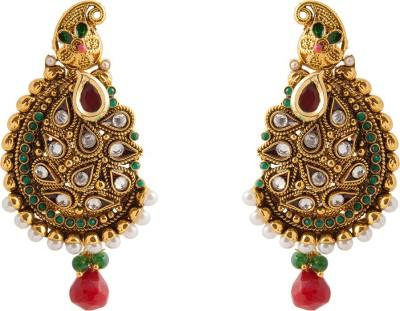 Aaina Home Decor Trendy Cubic Zirconia Copper Drop Earring