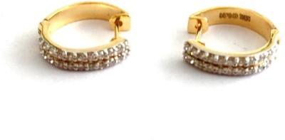 Arkina Diamonds Straight line cuffs Yellow Gold 18kt Diamond Stud Earring