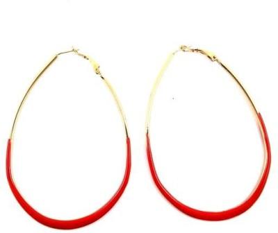 Ammvi Red Hawty For Women Alloy Hoop Earring